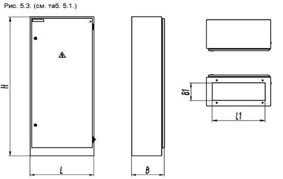 Схема монтажа шкафа типа ШРС.
